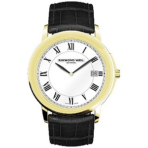Raymond Weil men's gold-plated & black strap watch - Product number 9530681