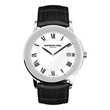 Raymond Weil men's stainless steel & black strap watch - Product number 9530703