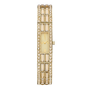 DKNY ladies' champagne dial stone set gold-plated watch - Product number 9531009