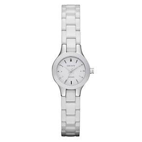DKNY ladies' white ceramic bracelet watch - Product number 9531068