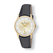 Dreyfuss & Co yellow gold-plated & leather strap watch - Product number 9531157