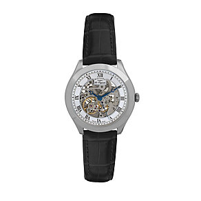 Rotary Jura men's stainless steel skeleton strap watch - Product number 9531629