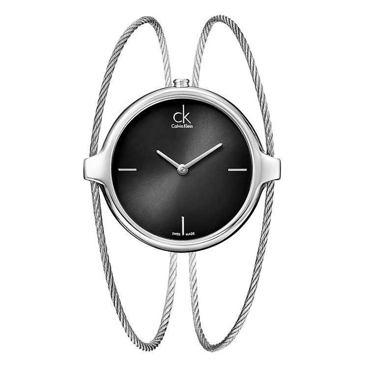 Calvin Klein Agile black dial & stainless steel bangle watch - Product number 9532196