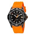 Accurist Sports Men's Black And Orange Strap Watch - Product number 9534601
