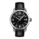 Tissot PRC200 men's black leather strap watch - Product number 9534849