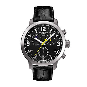 Tissot PRC200 men's stainless steel black strap watch - Product number 9534873