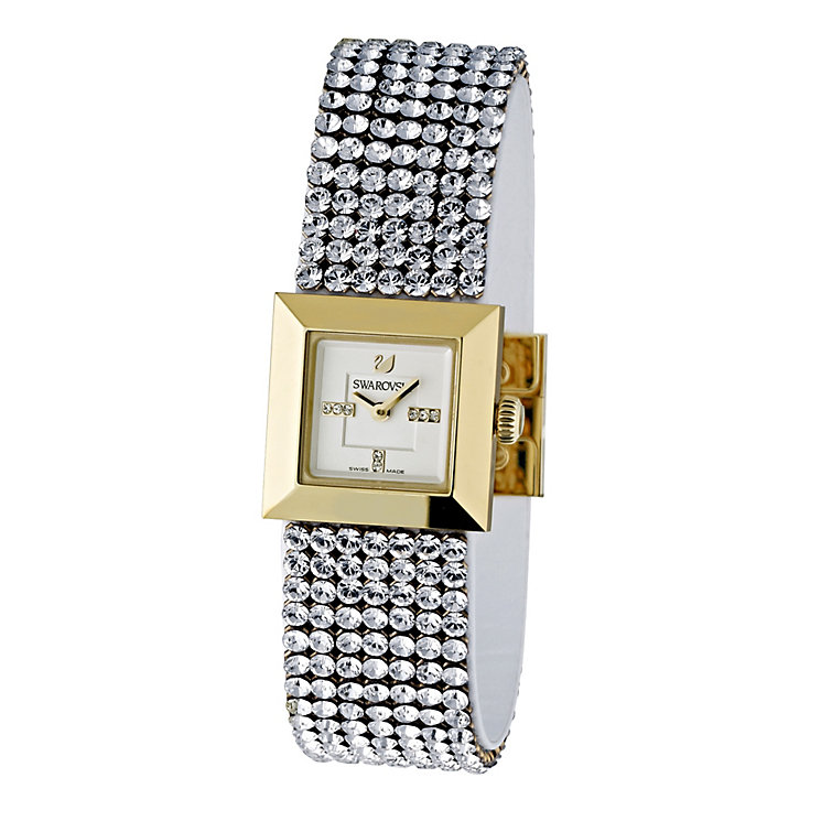 Swarovski Ellis mini crystal & gold case bracelet watch - Product number 9538100