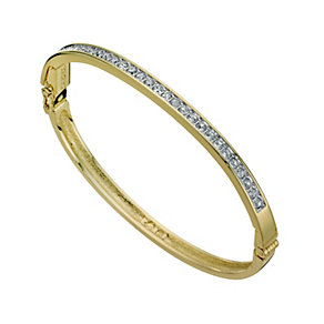 Swarovski channel set gold plated bangle - Product number 9538836