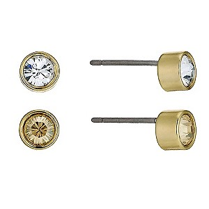 Swarovski Harley gold-plated set of 2 pairs of stud earrings - Product number 9538844