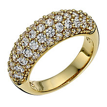 Swarovski Maeva crystal & gold-plated ring size L - Product number 9538860