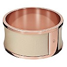 Calvin Klein leather & rose gold-plated bangle - Product number 9539301