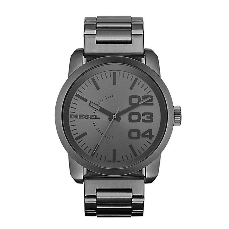 Diesel Mens Double Down Gunmetal Dial & Bracelet Watch - Product number 9540237