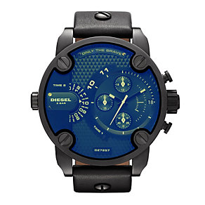 Diesel Only The Brave Men's Large Black Strap Watch - Product number 9540261