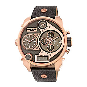 Diesel Men's Mr Daddy Black Strap Watch - Product number 9540326