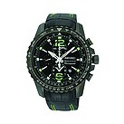 Seiko Sportura men's chronograph black strap watch - Product number 9541152