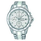 Seiko Sportura ladies' white chronograph bracelet watch - Product number 9541160