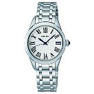 Seiko ladies' white dial stainless steel bracelet watch - Product number 9541179