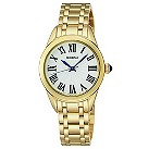 Seiko ladies' white dial gold plated bracelet watch - Product number 9541217