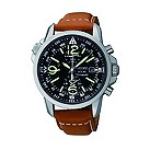Seiko Solar men's stainless steel chronograph strap watch - Product number 9541292