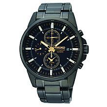 Seiko men's black bracelet watch - Product number 9541446