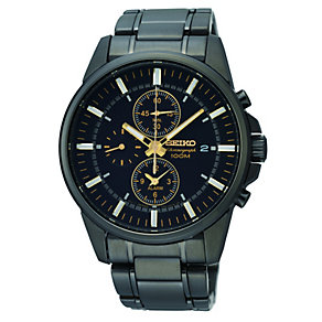 Seiko men's black bracelet watch - Product number 9541446