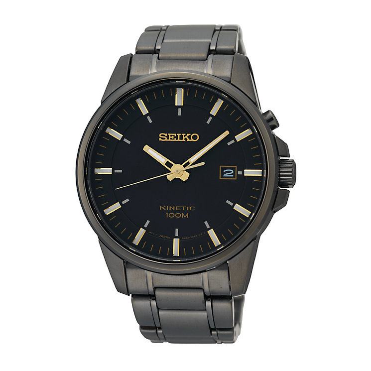 Seiko men's automatic black ion plated bracelet watch - Product number 9541527
