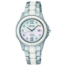 Seiko Coutura ladies' white ceramic bracelet watch - Product number 9541578