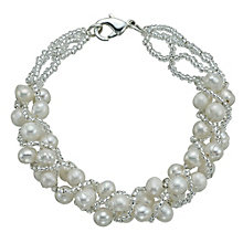 "Sterling Silver Freshwater Pearl Bead Wrap Bracelet 7.5"" - Product number 9544186"