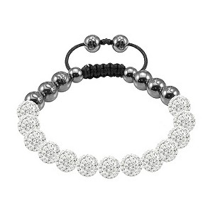 Tresor Paris Migennes white crystal beaded bracelet - Product number 9544615