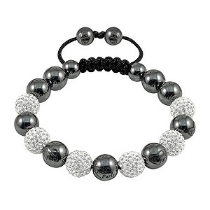 Tresor Paris Pamiers white crystal & magnetite bracelet - Product number 9544674