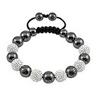 Tresor Paris Pamiers white crystal & magnetite bracelet - Product number 9544674