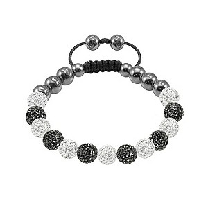 Tresor Paris Baho white & grey crystal beaded bracelet - Product number 9544690