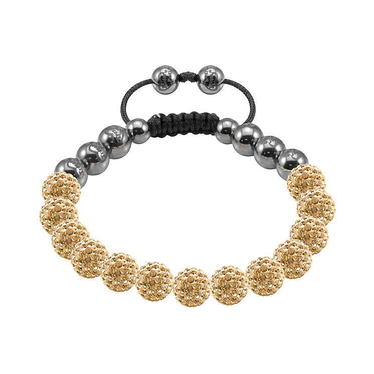 Tresor Paris Ansouis gold crystal beaded bracelet - Product number 9544720