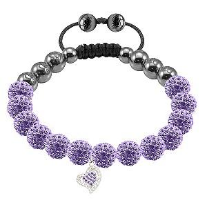 Tresor Paris Caestre lilac crystal heart charm bracelet - Product number 9544739