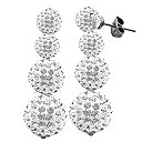 Tresor Paris Four Drop white crystal earrings - Product number 9545042