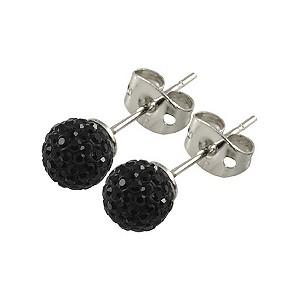 Tresor Paris Reel 6mm black crystal ball stud earrings - Product number 9545050