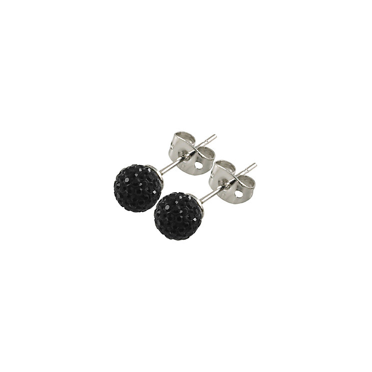 Tresor Paris Reel 6mm black crystal ball stud earrings - Product number 9545050