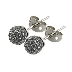 Tresor Paris Bissey 6mm grey crystal ball stud earrings - Product number 9545069