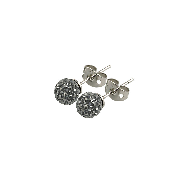 Tresor Paris Bissey 6mm grey crystal ball stud earrings - Product number 9545069