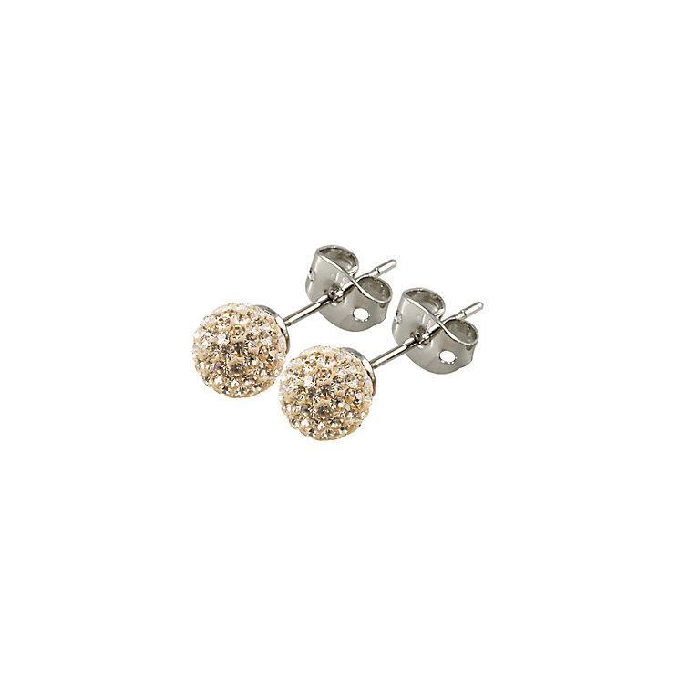 Tresor Paris Cramenil 6mm gold crystal ball stud earrings - Product number 9545077