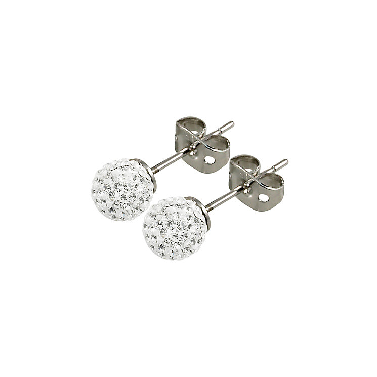 Tresor Paris Tassilly 6mm white crystal ball stud earrings - Product number 9545085