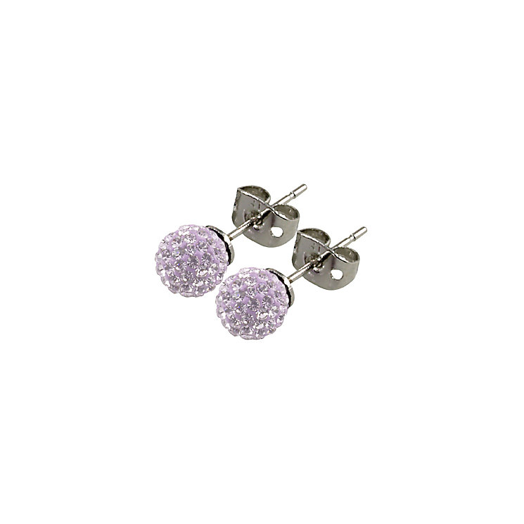 Tresor Paris Lilas 6mm lilac crystal ball stud earrings - Product number 9545093