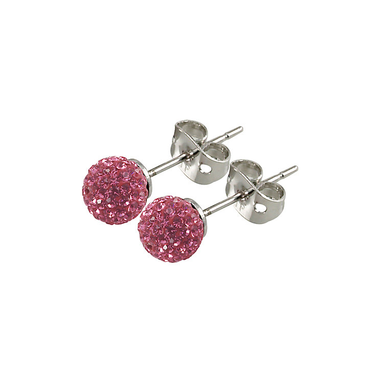 Tresor Paris Proussy 6mm pink crystal ball stud earrings - Product number 9545107