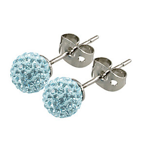 Tresor Paris Donnay 6mm blue crystal ball stud earrings - Product number 9545115