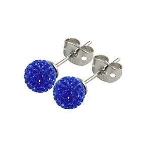 Tresor Paris Rabodanges 6mm blue crystal ball stud earrings - Product number 9545123