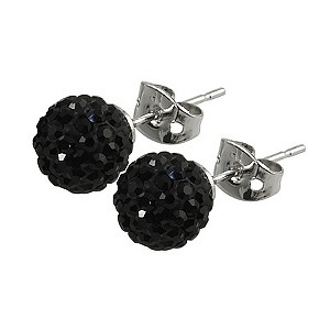 Tresor Paris Reel 8mm black crystal ball stud earrings - Product number 9545158