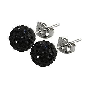 Tresor Paris Reel 8mm black crystal ball stud earrings - Product number 9545158