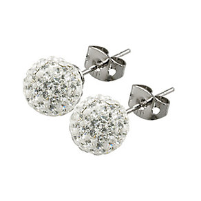 Tresor Paris Tassilly 8mm white crystal ball stud earrings - Product number 9545174