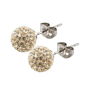 Tresor Paris Cramenil 8mm gold crystal ball stud earrings - Product number 9545182