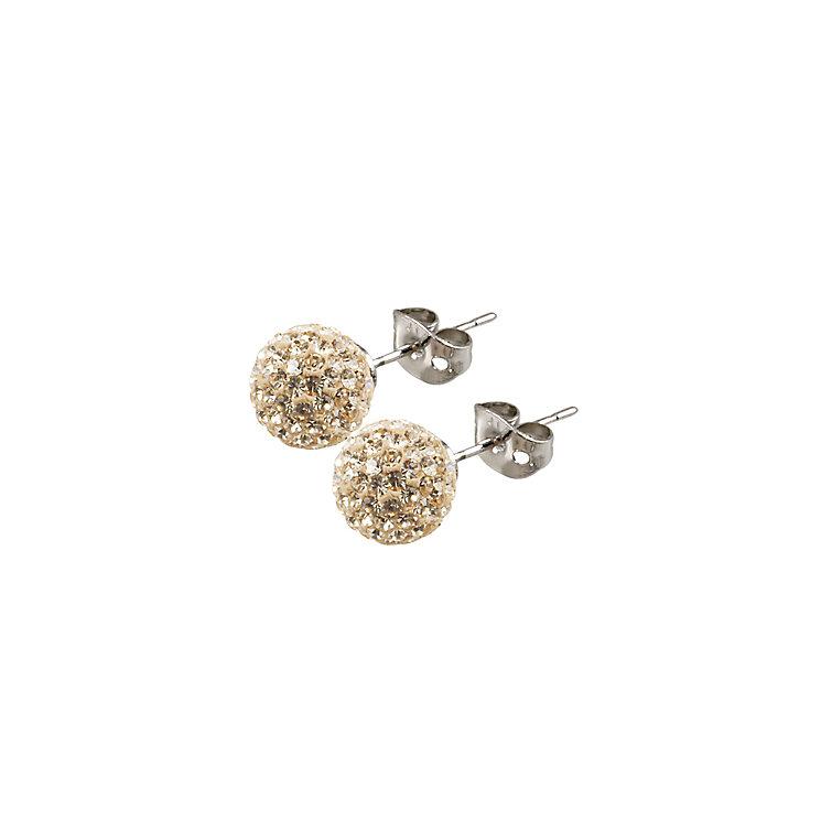 Tresor Paris Cramenil 8mm gold crystal ball stud earrings - Product number 9545182